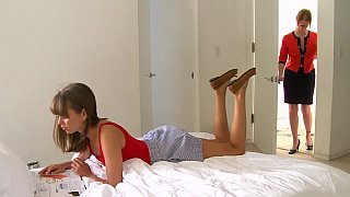 Lesbian step-mom and her cute daughter Thumbnail