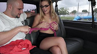 Horny college chick in our bus Thumbnail