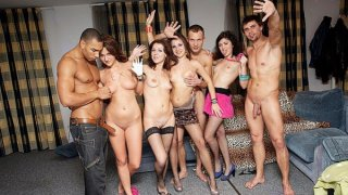 Orgy at crazy students sex party Thumbnail