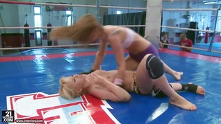 Aleska Diamond and Celine Doll are fighting in arena Thumbnail