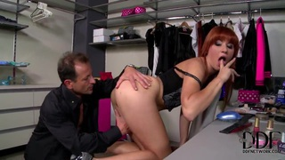 Young redhead Lucy Bell gets boned deep Thumbnail