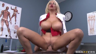 Amazing MILF Holly Brooks sucking and fucking with a young guy