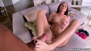 Naked Brandy Aniston gives footjob to dude Thumbnail