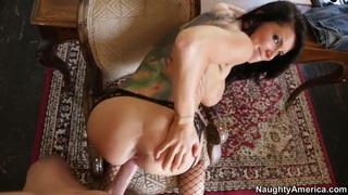 Romi Rain sucking a big dick hard and having her pussy fucked Thumbnail
