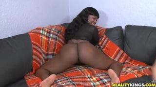 Big ass Boogotti enjoys in interracial sex with Jmac