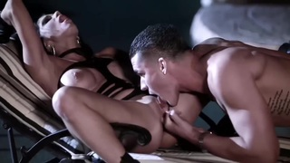 nasty and horny slut with hard cock by the pool Thumbnail