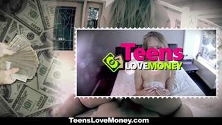 TeensLoveMoney - Cute Brunette Fucks In Public For Extra Cash