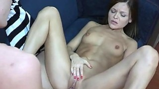 Bitch enjoys riding on top of an erected thick rod Thumbnail