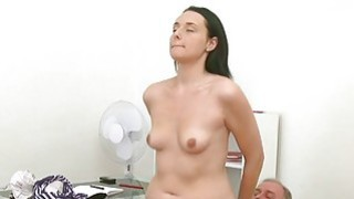 Old teacher is drilling pleasing babe doggy style Thumbnail