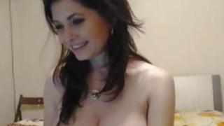Busty sensual milf teasing on cam