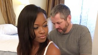 Ebony Wife Has Cuckold Lick Another Mans Cum Thumbnail