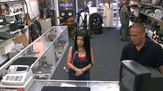 Sultry Cuban chick sells her TV and banged by pawnkeeper Thumbnail