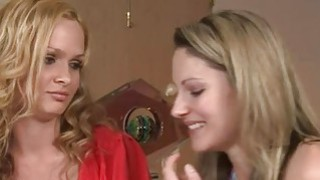 Blonde sweeties Prinzzess and Samantha pleasuring on the bed Thumbnail