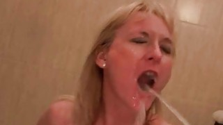 Two guys fucking and pissing on mature slut Thumbnail