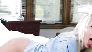 Blonde babe Stevie Shae fucked real hard and covered in cum Thumbnail