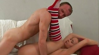 Excited older teacher is seducing babes beaver