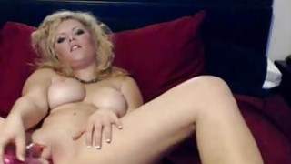 Hot Curvy Blonde Webcam Girl Playing