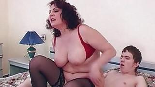 Hottie Brunette Stepmom Fucks Her Stepson In Bed Thumbnail