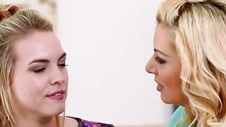 Big Tits Blonde pussy licking lesbians to reach orgasm Thumbnail