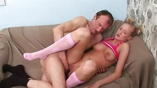 Old teacher is drilling sweet playgirl doggystyle Thumbnail