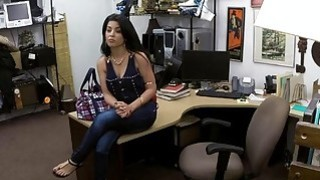 Cuban chick sells her TV and ripped good by horny pawn guy Thumbnail