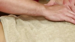 Very tricky massage bedroom of horny masseur Thumbnail