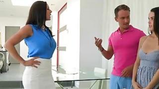 Attractive babes Kendra and Dillion sharing a hard cock Thumbnail