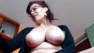 Busty Housewife Liza toying live at home Thumbnail