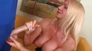 Blonde Milfs Been Greated By A Big Dick Thumbnail
