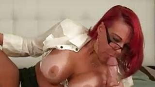 Mom Deepthroates His Cock As He Spurts