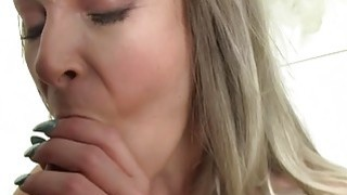 Huge tits blonde fucks fake agent