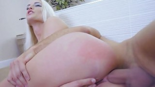 Blonde Blanche ride on Keirans big hard cock Thumbnail