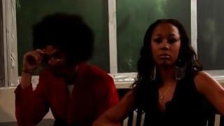 Gorgeous Ebony Whore Rides Massive Cock Thumbnail