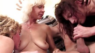 Lucky guy doing three horny matures Thumbnail