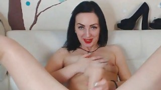 Pretty Babe Plays with Huge Toy Thumbnail