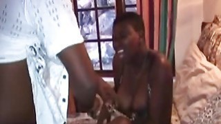 Fat Ebony slut loves to get fucked by two horny guys Thumbnail