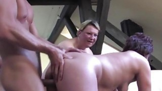 Three chubby matures fuck a young dude Thumbnail