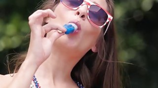 Alexa Grace and Cassidy Klein having outdoor lesbian action Thumbnail