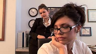 Hot office threesome
