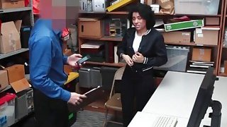 Teen shoplifter got caught and gets fucked really hard Thumbnail