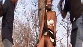 Horny African Slave Abused And Pounded Outdoors Thumbnail