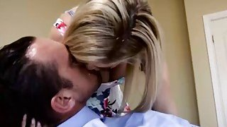 Jessa Rhodes gets her tight pussy pounded hard on the bed Thumbnail