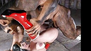 3D Wonder Woman Fucked by a Werewolf