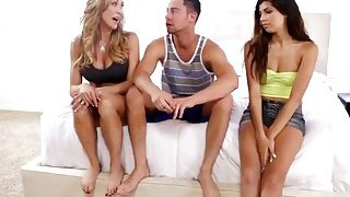 Brandi Love And Ava Taylor Are Having Hot Threesome With Ava's Boyfriend Thumbnail