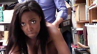 Ebony thief Daya deserves a hardcore sex