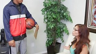Mom will do anything to get her son into basketball team so she takes some black cocks Thumbnail