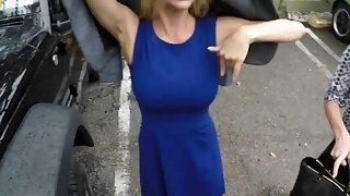 Big titted blonde MILF getting slammed hard in POV by a truck driver Thumbnail