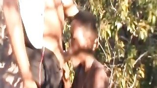 Busty African Slave Forced To Suck Cock Outdoors Thumbnail