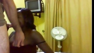 Huge titted African babe getting slammed hard by a massive white cock Thumbnail