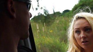 Blonde teen talked into fucking stranger Thumbnail